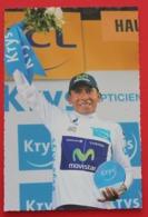 Cyclisme :  Tour De France 2015,  Nairo Quintana (Colombie) , Maillot Blanc Du Meilleur Jeune - Cyclisme