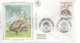 France - FDC - 1er Jour 14 SEPTEMBRE 1991 - LA TORTUE TERRESTRE - FDC