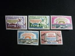 Cameroun, 1962 1st Anniv. Of The Reunification Of Cameroun Scott #374-378 MNH Cv. 3,75$ - Camerun (1960-...)