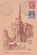 Carte  FRANCE    Foire  Exposition  CHOLET  1946 - Marcophilie (Lettres)