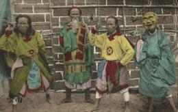 Indochina, ANNAM HUÉ, Head Of King's Comedians & Three Key Players (1910s) (I) - Viêt-Nam