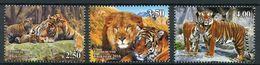Tajikistan 2017 Tigers Wild Cats Fauna Set Of 3v MNH - Raubkatzen
