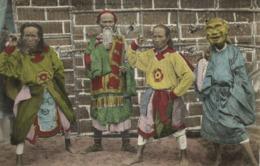 Indochina, ANNAM HUÉ, Head Of King's Comedians & Three Key Players (1910s) (II) - Viêt-Nam