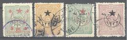 Turquie: Yvert N° 336/344; 4 Valeurs - 1858-1921 Empire Ottoman