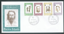 Pitcairn Islands 1994 Early Pitcairners Set Of 4 On FDC Official Unaddressed - Stamps