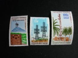 Cameroun, 1963 High Frequency Telegraph Connection Douala-Yaounde Scott #384-385, C46 MNH Cv. 3,55$ - Camerun (1960-...)