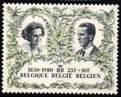 BELGIUM # 2033 -  150 Years Independence -  1980  - USED - Used Stamps