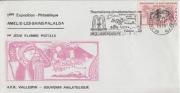 Enveloppe    FRANCE   1ére   Exposition  Philatélique   AMELIE  LES  BAINS   1978 - Philatelic Exhibitions
