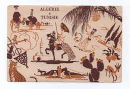 1940/50years ART POSTCARD Signed J.P PINCHON - AFRICA AFRIKA AFRIQUE ALGERIA ALGERIE TUNISIA TUNISIE ALGÉRIE - Plaatsen