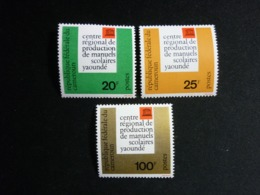 Cameroun, 1963 UNESCO Regional Center Yaounde Scott #386-388 MNH Cv. 3,10$ - Camerun (1960-...)