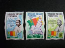 Cameroun, 1963 Second Annlversary Of Reunification. Scott #389-391 MNH Cv. 1,80$ - Camerun (1960-...)