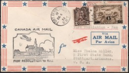 Canada 1932 Dec. 06.  Inaugural Flight Canada Air Mail By Sea Plane Fort Resolution To Rae. - 1911-1935 George V