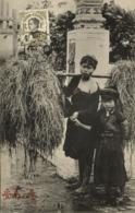 Indochina, THAI BINH, Native Woman With Young Girl (1910) Postcard - Viêt-Nam