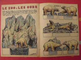 Découpage Diorama à Construire. Le Zoo : Les Ours Blancs. 1947 - Collections