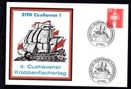 Cuxhaven Sonderstempel CUXHAVEN 1 2190 KRABBENFISCHERTAG ERLÖSE ZUGUNSTEN DER  - Unclassified