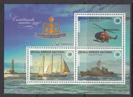 2017  Uruguay Coast Guard Helicopter Lighthouse Miniature Sheet Of 3  MNH - Uruguay