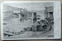 KAUNAS, KOWNO, 1915, FELDPOST, Railway Bridge, Eisenbahnbrücke, Pont De Chemin De Fer - Lituanie