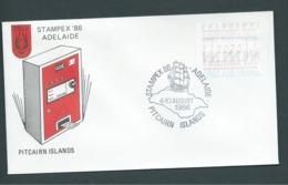 Pitcairn Islands 1986 70c Frama FU On Stampex Envelope - Stamps