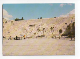 Israel: Jerusalem, Wailing Wall (19-1809) - Israel