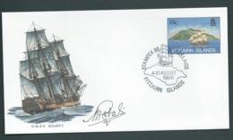 Pitcairn Islands 1986 15c HMAV Bounty Ship PSE , FU At Stampex Adelaide , Signed At Base (? Designer) - Stamps