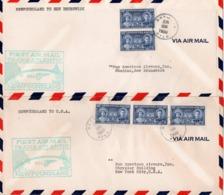 Canada - Newfoundland 1939 First Trans-Atlantic Airmail Newfoundland  To New Brunswick, Newfoundland To U.S.A. - 1908-1947