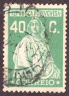 """Portugal 1926 - """" Ceres """" 40c Emissão De Londres - 1910-... République"""