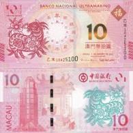 Macao Macau - 10 Patacas 2015 UNC BNU Year Of The Goat Lemberg-Zp - Macao