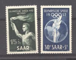 Sarre  :  Yv  301-02  *     JO Helsinki - 1947-56 Occupation Alliée