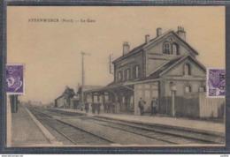 Carte Postale 59. Steenwerck  La Gare   Trés Beau Plan - France