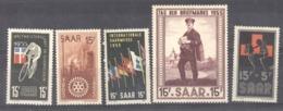 Sarre  :  Yv  339-43  ** - 1947-56 Occupation Alliée