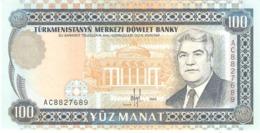 TURKMENISTAN 100 MANAT 1995 PICK 6b UNC - Turkménistan