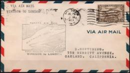 Canada 1929 Jul. 15. First Regular Official Flight Canada Air Mail Windsor To London. Detroit River, Seaplane. - 1911-1935 Règne De George V