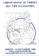 CPM - ATHLETISME - COURSE A PIED - CHAMPIONNAT DE FRANCE DES 100 KILOMETRES - AMIENS 1988 - ILLUSTRATEUR FARABOZ - Athlétisme