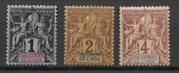 Inde - 1892 - N°Yv. 1 - 2- 3 - Groupe 1c / 2c / 4c - Neuf Luxe ** / MNH / Postfrisch - Indien (1892-1954)