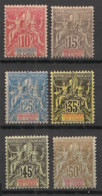 Inde - 1900-07 - N°Yv. 14 à 19 - Type Groupe - Série Complète - Neuf * / MH VF - Ungebraucht