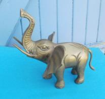ELEPHANT En Laiton Hauteur 20 Cm - Bronzes