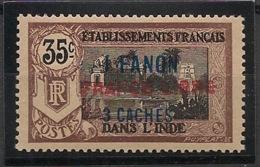 Inde - 1941 - N°Yv. 130a - France LIbre - 1fa3ca Sur 35c Brun - Neuf Luxe ** / MNH / Postfrisch - Indië (1892-1954)