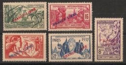 Inde - 1941 - N°Yv. 152 à 156 - France Libre - Neuf Luxe ** / MNH / Postfrisch - Unused Stamps