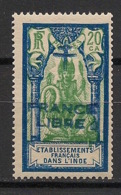 Inde - 1941-43 - N°Yv. 182a - Surcharge Bleue - France Libre - Neuf Luxe ** / MNH / Postfrisch - Indien (1892-1954)