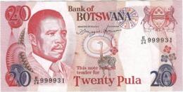 Botsuana - Botswana 20 Pula 1982 Pk 13 A Firma 6a Ref 3697-1 - Botswana