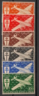 Inde - 1942 - Poste Aérienne PA N°Yv. 1 à 6 - Série Complète - Neuf Luxe ** / MNH / Postfrisch - Indien (1892-1954)