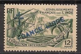 Inde - 1942 - N°Yv. 171 - 12ca Vert - France Libre - 1er Tirage - Neuf Luxe ** / MNH / Postfrisch - Indien (1892-1954)