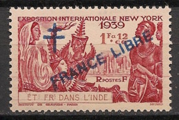 Inde - 1942 - N°Yv. 175 - 1fa12ca - France Libre - 1er Tirage - Neuf Luxe ** / MNH / Postfrisch - Indien (1892-1954)