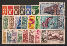 Inde - 1942-54 - Poste Aérienne PA N°Yv. 1 à 22 - Complet - 22 Valeurs - Neuf * / MH VF - Unused Stamps