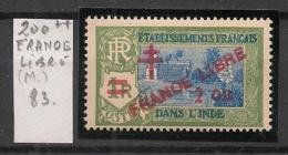 Inde - 1943 - N°Yv. 200 - Variété FRANOE Libre - Neuf Luxe ** / MNH / Postfrisch - Unused Stamps