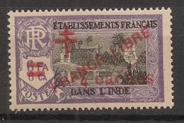 Inde - 1943 - N°Yv. 201 - France LIbre - 4ca Sur 6fa6ca Violet - Neuf Luxe ** / MNH / Postfrisch - Ungebraucht