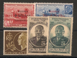 Inde - 1944-45 - N°Yv. 231 à 235 - Complet - 5 Valeurs - Neuf Luxe ** / MNH / Postfrisch - Indien (1892-1954)