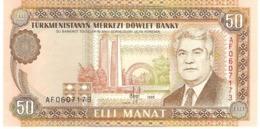 TURKMENISTAN 50 MANAT 1995 PICK 5b UNC - Turkmenistan