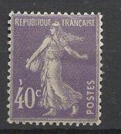 France N° 236  Semeuse 40c Violet   Neuf * * TB  = MNH  VF   Soldé  à  Moins De 15 % ! ! ! - Neufs