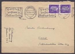 Berlin Charlottenburg Automatenstempel 1942 Vorsicht Feuer Nach Kassel (10253 - Sellos